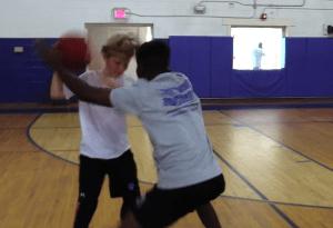 basketball team training
