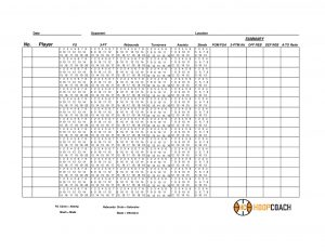 Blank Basketball Stat Sheets Hoop Coach