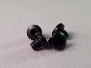 Grip Screws Hex Head Black Slim 1