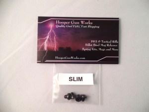 HGW (4) 1911 Slim/Low Profile Grip Screw Bushings - Black Stainless Steel USA
