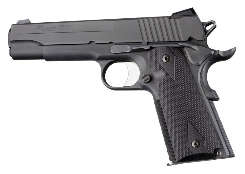 Hogue 1911 Grips Full Size Government G-10 Checkered Black 45179
