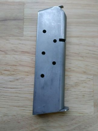 "Colt 1911 Stainless Magazine 45 acp 7rd Mag - ""A box"" Generic"