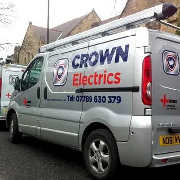 Crown Electrics Van Graphics