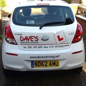 Daves Driving School Car Graphics