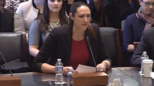 Oct. 27, 2015. Ruth Riley testifies before Congress.