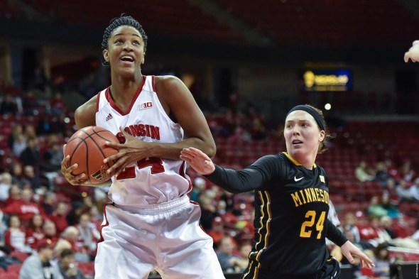 Wisconsin junior forward Malayna Johnson. Photo: Wisconsin Athletics.