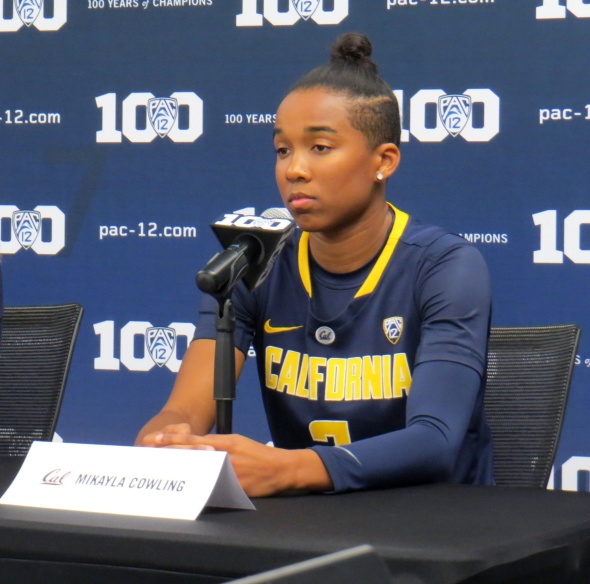 Cal sophomore Mikayla Cowing during 2015 Pac-12 Media Day.