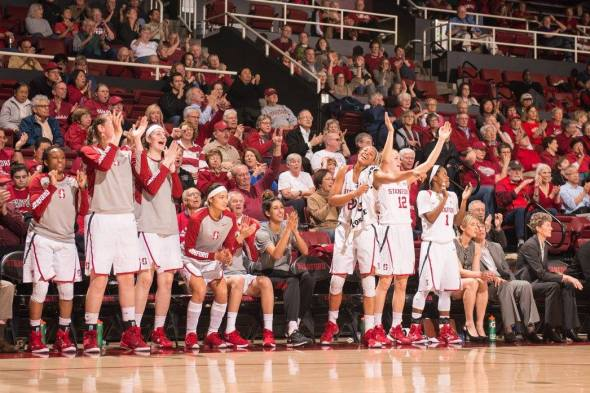 Jan. 29, 2016 (STANFORD, Calif.) -- No. 16 Stanford defeated No. 25 Washington. Photo: Stanford Athletics.