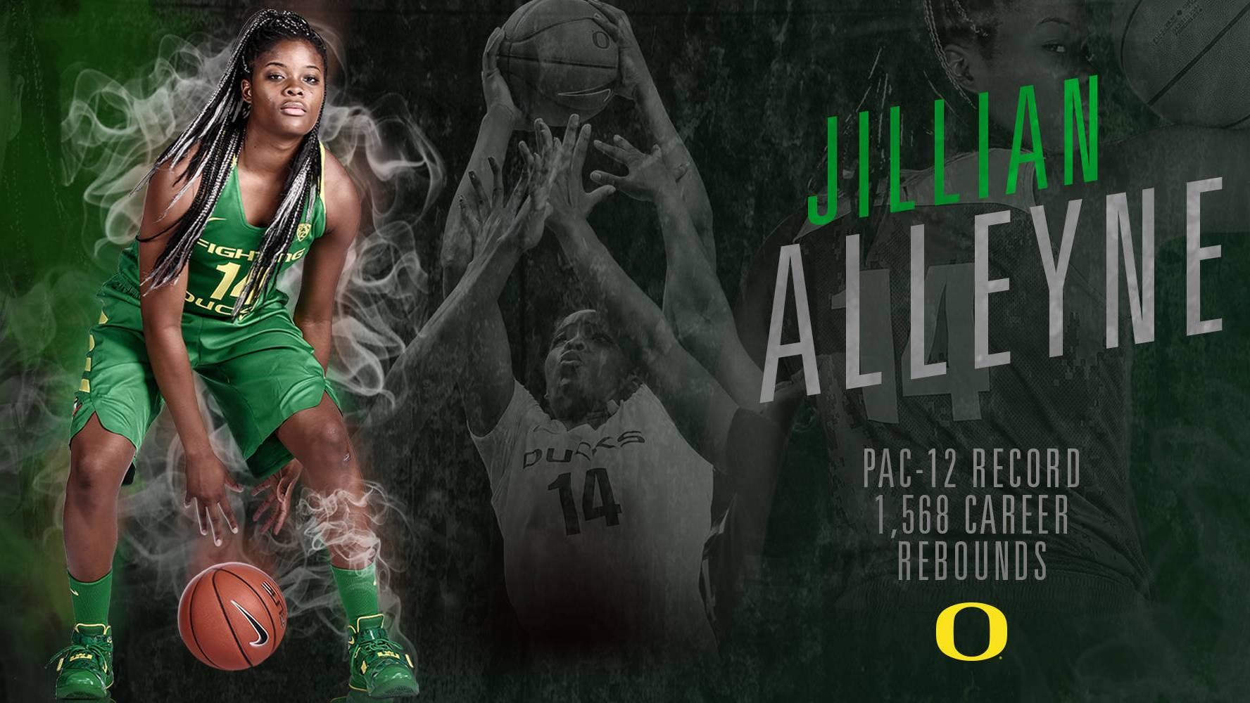 Oregon's Jillian Alleyne becomes Pac-12 all-time rebounding leader