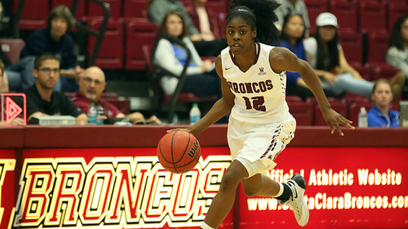 Sophomore guard Kyla Martin. Photo: Santa Clara Athletics.