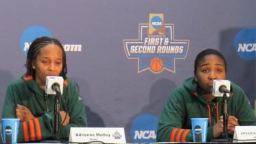 Miami Players Jessica Thomas and Adrienne Motley.