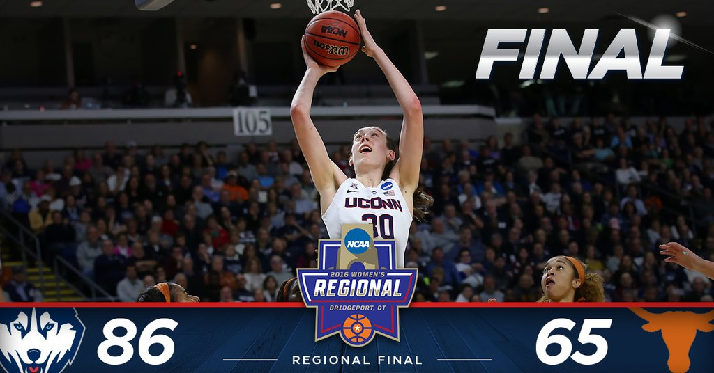 UConn defeats Texas 86-65 to move on to ninth straight Final Four