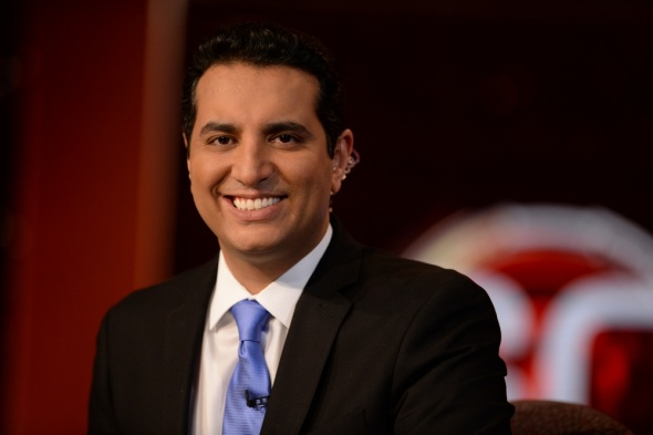 Bristol, CT - Kevin Negandhi on the set of SportsCenter (Photo: Joe Faraoni / ESPN Images)