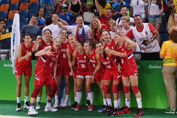 August 20, 2016 (Rio de Janeior) - Serbia after winning the bronze medal vs. France. Photo: FIBA.