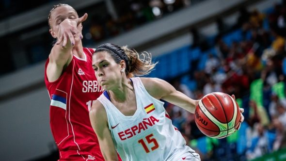 Anna Cruz, Spain vs. Serbia during the Rio Games. Photo: FIBA.