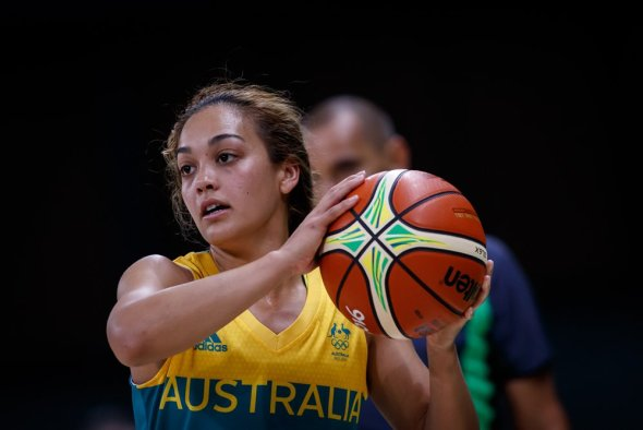 Australian guard Leilani Mitchell. Photo: Basketball Australia.