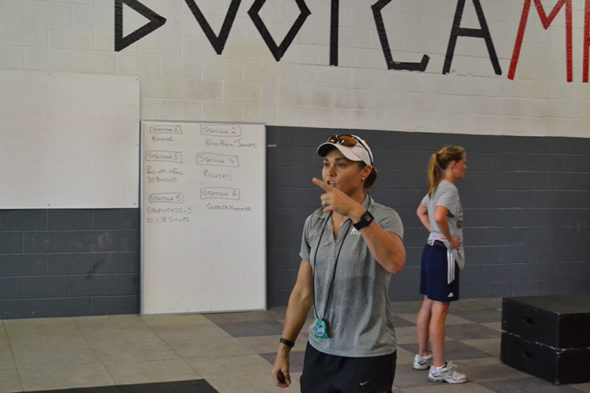 Indiana Fever bootcamp at Gym 41 led by Tully Bevilaqua. Photo: Indiana Fever.