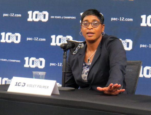 Violet Palmer at 2015 Pac-12 Media Day.