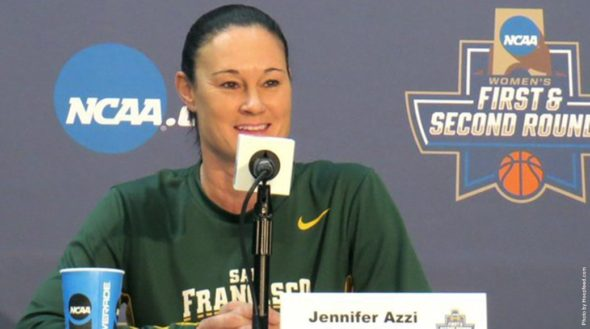 Head coach Jennifer Azzi addressed the media on the eve of the Dons' first NCAA Tournament appearance since 1997.