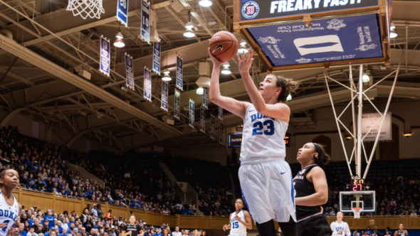 Rebecca Greenwell led Duke with 29 points in the win over South Carolina.