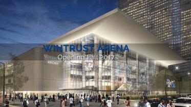 Artist rendering of Wintrust Arena (DePaul Athletics).