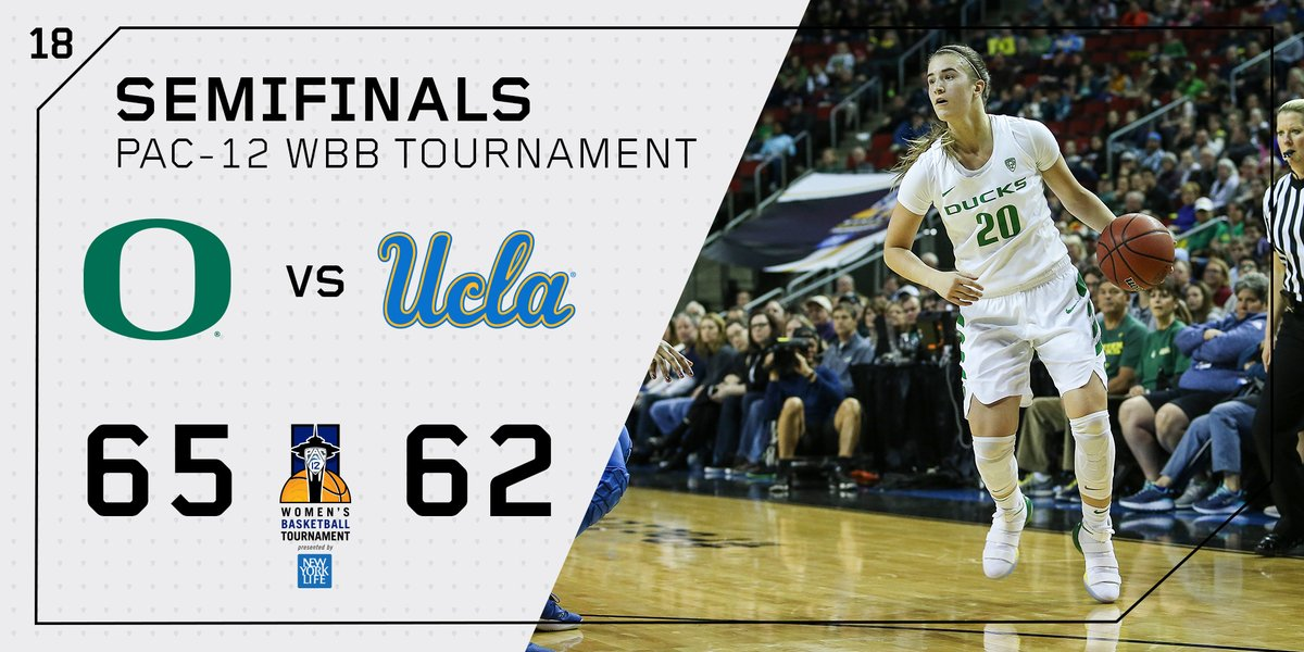 Oregon heads to Pac-12 tournament final for the first time, survives gritty contest vs. UCLA, 65-62