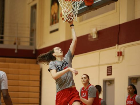 Breanna Stewart during USA Basketball training camp. Photo: USA Basketball.