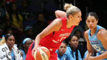 Washington, D.C. (July 13, 2018) - Mystics foward Elena Delle Donne. Photo: NBAE/Getty Images.
