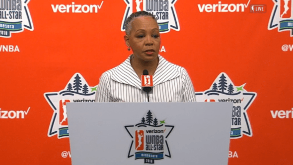 July 28, 2018 (Minneapolis, MN) - WNBA president Lisa Borders