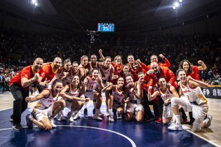 2018 FIBA World Cup bronze medal team, Spain. Photo: FIBA.