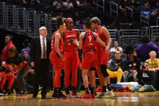 June 18, 2019 ( Los Angeles) - Washington Mystics at Los Angeles Sparks. Photo: NBAE/Getty Images.