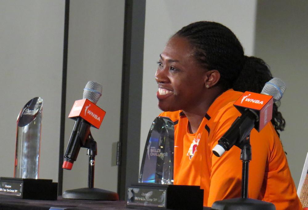 2019 WNBA All-Star: Stricklen takes three-point crown and DeShields wins skills challenge