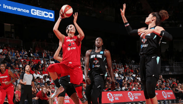 August 25, 2019 (Washington, D.C.) - Elena Delle Donne. Photo: NBAE/Getty Images.