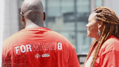 Washington Mystics support Forward8
