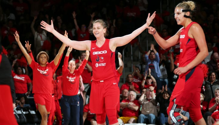 Emma Meesseman leads Washington in 103-91 win over Aces, Mystics take 2-0 lead in semifinal series