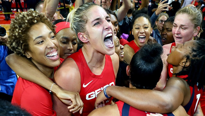 Washington Mystics claim their first WNBA title, defeating the Connecticut Sun 89-78 in Game 5
