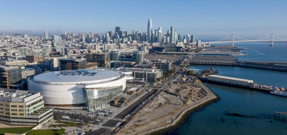 Chase Center aerial view. Image: ChaseCenter.com