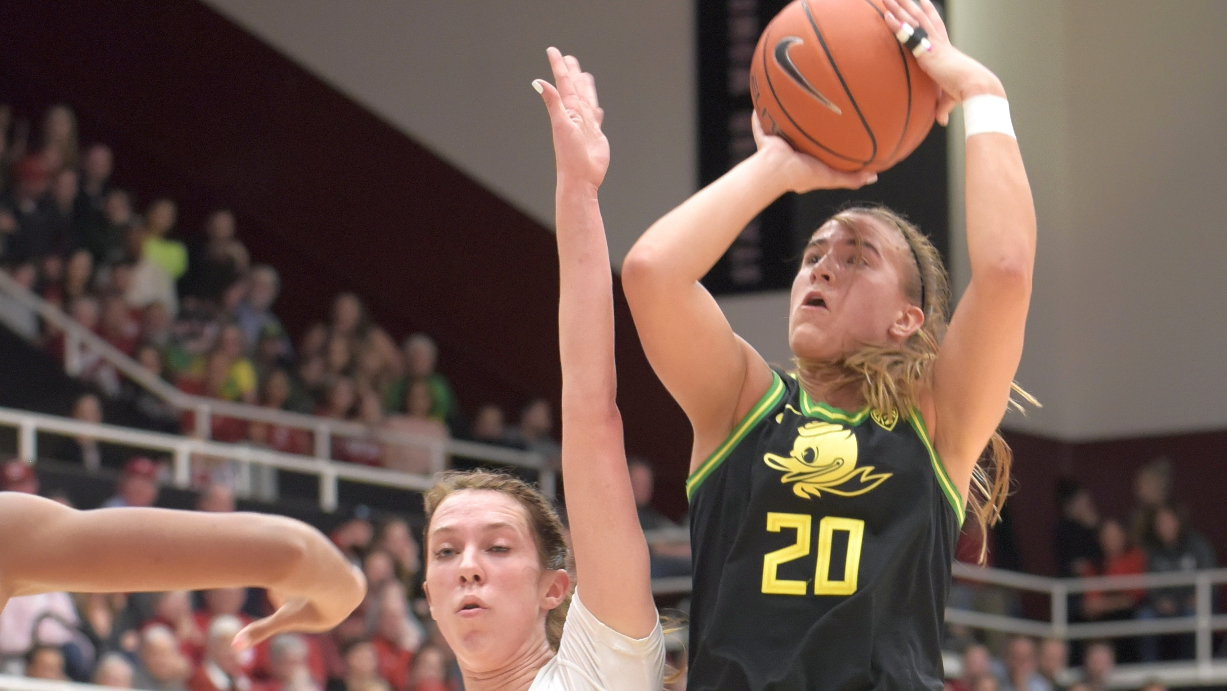 Suffering from the flu, Sabrina Ionescu hits another milestone while earning her 26th triple-double in 74-66 win over Stanford