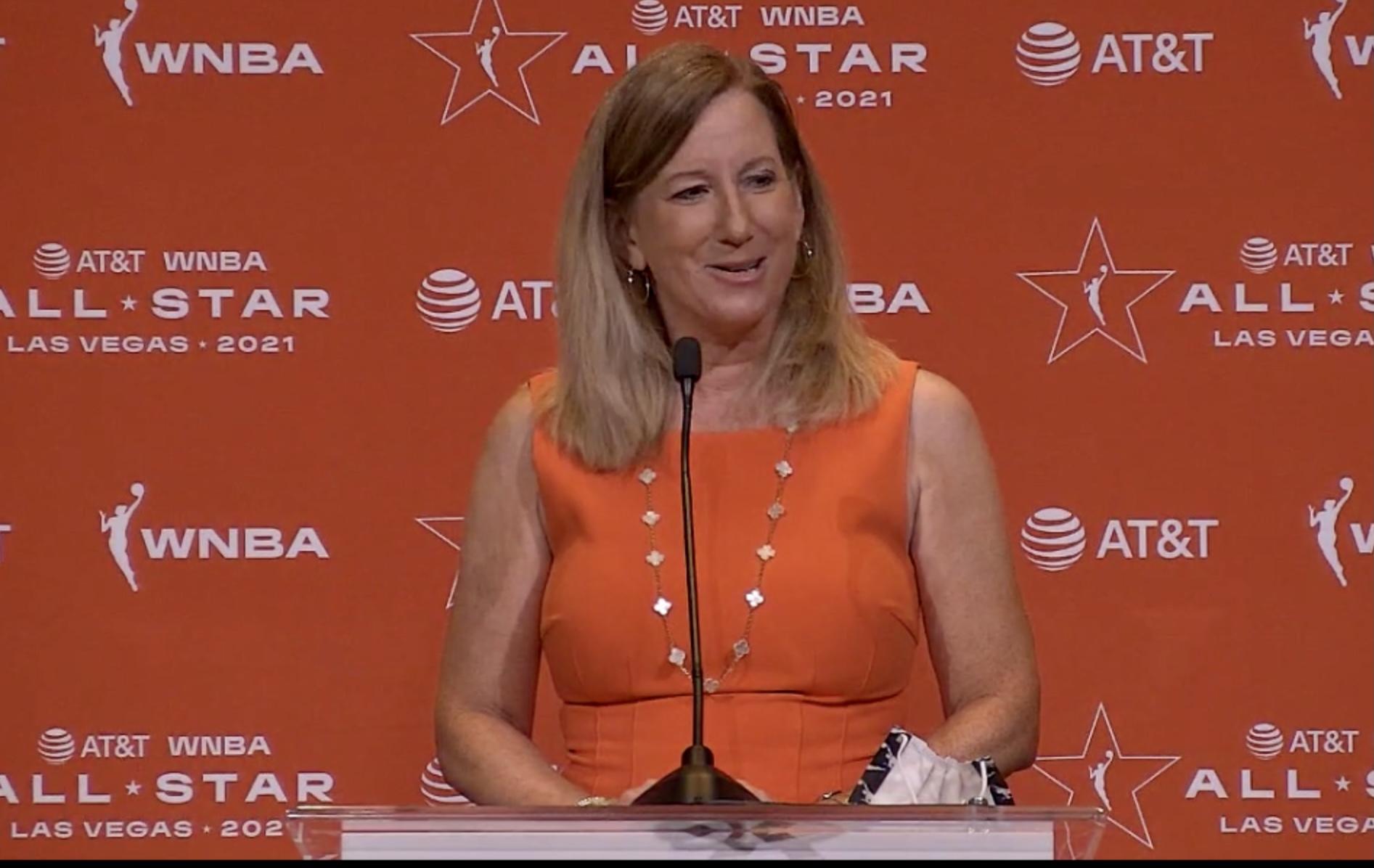 2021 WNBA All-Star: WNBA Commissioner Cathy Engelbert talks to media