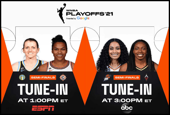 WNBA Playoff Semifinals: Series Even Ahead of  Game 3 Matchups