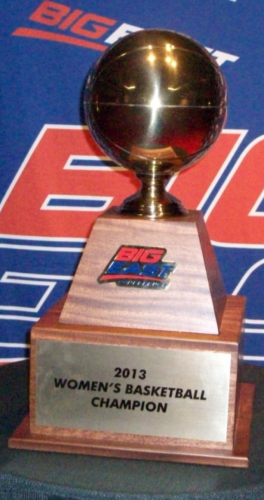 2013 Big East tournament trophy.