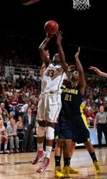 Chiney Ogwumike vs Michigan (via Bob Drebi/ISIPhoto).