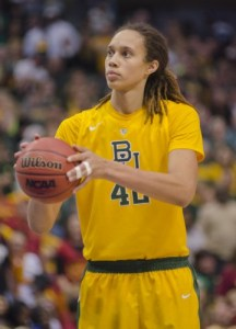 Brittney Griner was named the Big 12 Tournament Most Outstanding Player. Photo: Robert Franklin, all rights reserved.