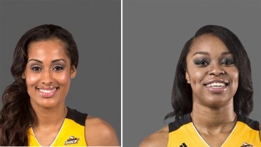 Skylar Diggins and Odyssey Sims. Photos: Shane Bevel/NBAE.