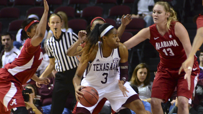 Texas A&M and Kelsey Bone take care of business in Aggies' first-ever SEC opener beating Alabama 91-52