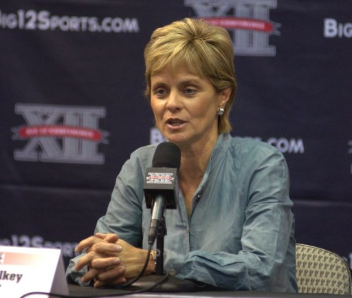 Baylor's Kim Mulkey at Big 12 Media Day. Photo: Robert Franklin, all rights reserved.