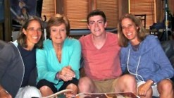 "Pat Summitt and Tyler Summitt with ""Pat XO"" directors Lisa Lax, left, and Nancy Stern Winters, right. Photo: espnW."