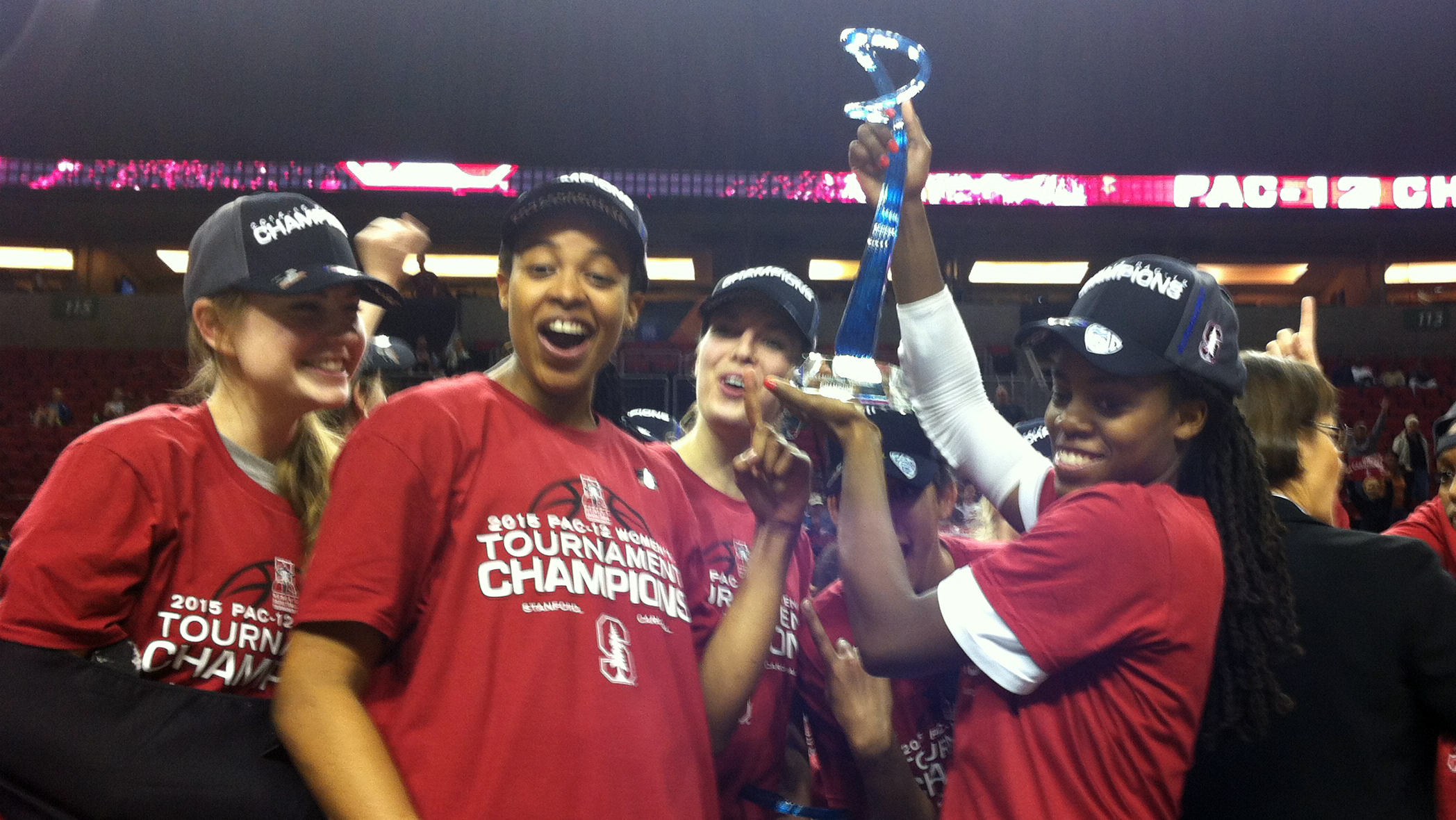 Stanford outlasts Cal 61-60 to win the Pac-12 tournament championship for the 11th time