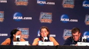 April 5, 2014 (Nashville, Tenn.) - Stefanie Dolson talking to the media during the 2014 Final Four.