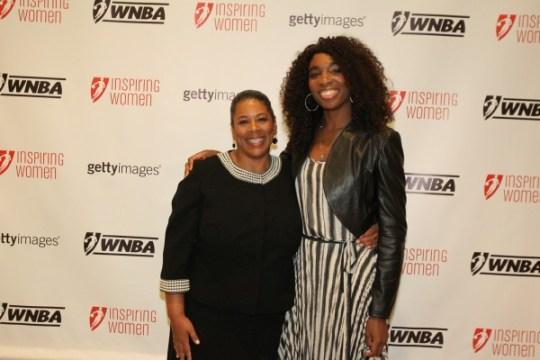 WNBA President Laurel J. Richie and Venus Williams